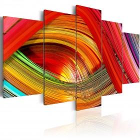 Foto schilderij - Abstractie met kleurrijke streepjes
