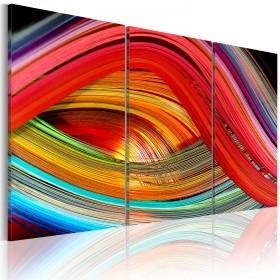 Foto schilderij - Abstracte regenboog