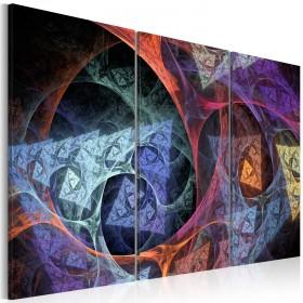 Foto schilderij - Abstractie met geheimzinnige kleuren