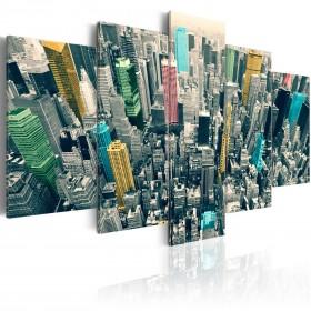 Foto schilderij - Een kleurrijke dag in New York