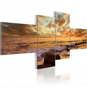 Foto schilderij - Zonsondergang aan zee