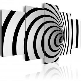 Foto schilderij - Zwart-wit gat