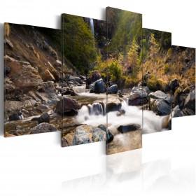 Foto schilderij - Waterval midden in de wilde natuur