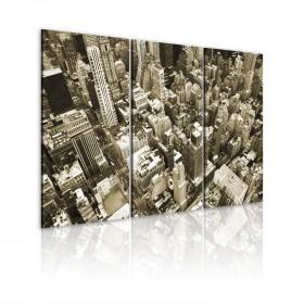 Foto schilderij - NYC from a bird´s eye view