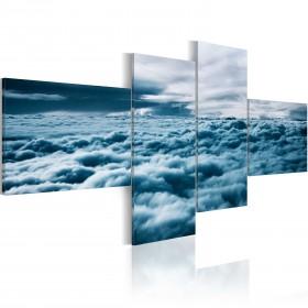 Foto schilderij - Head in the clouds