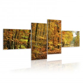 Foto schilderij - A shiny fall alley