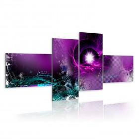 Foto schilderij - Shiny violet