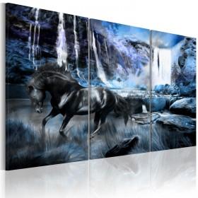 Foto schilderij - Waterfall in colour of sapphire