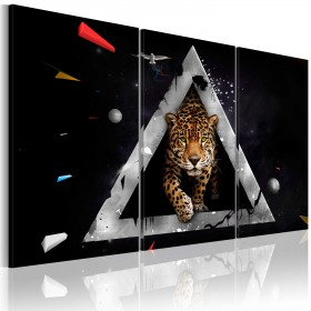 Foto schilderij - Tiger inkomende!
