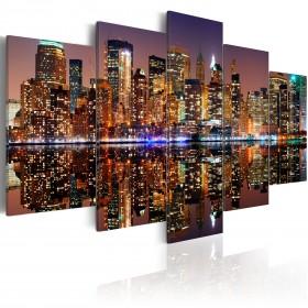 Foto schilderij - NYC - mirror reflection