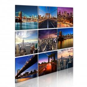 Foto schilderij - New York in negen scènes