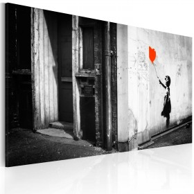 Foto schilderij - Girl with balloon (Banksy)