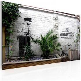Foto schilderij - Graffiti area (Banksy)
