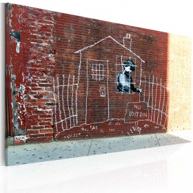 Foto schilderij - Grounded (Banksy)