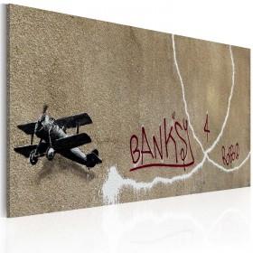 Foto schilderij - Love plane (Banksy)