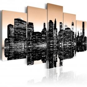 Foto schilderij - Sinking New York - 5 stuks