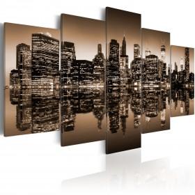Foto schilderij - Melancholische NYC - 5 stuks