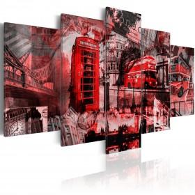 Foto schilderij - Londen collage - 5 stuks
