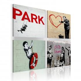 Foto schilderij - Banksy - stedelijke inspiratie