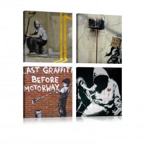 Foto schilderij - Banksy - Street Art