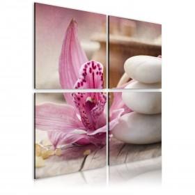 Foto schilderij - Orchidee en zen
