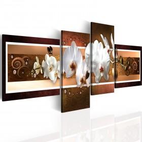 Foto schilderij - Elegante orchideeën in abstractie
