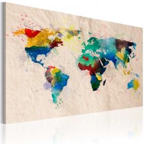 Foto schilderij - De wereld van kleuren
