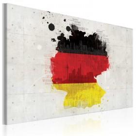 Foto schilderij - Kaart van Duitsland