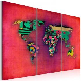 Foto schilderij - De Wereld is van mij - drieluik