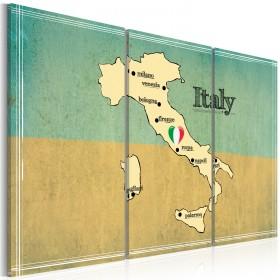 Foto schilderij - Hart van Italië - triptiek