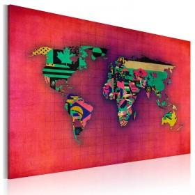 Foto schilderij - De Wereld is van mij