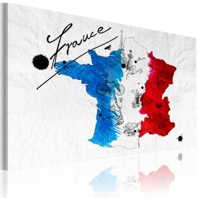 Foto schilderij - Welkom in Frankrijk!