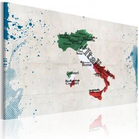 Foto schilderij - Kaart van Italië