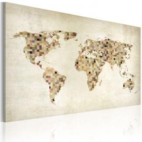 Foto schilderij - Beige tinten van de Wereld