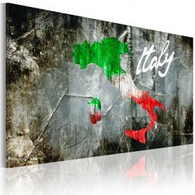 Foto schilderij - Artistieke kaart van Italië