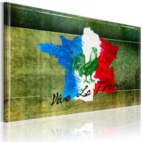 Foto schilderij - Vive la France