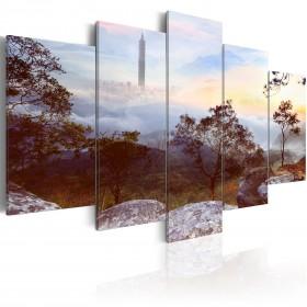Foto schilderij - Tower and horizon