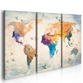 Foto schilderij - Free as a bird - triptych