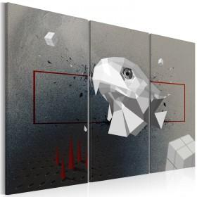 Foto schilderij - eagle - 3D - Triptych