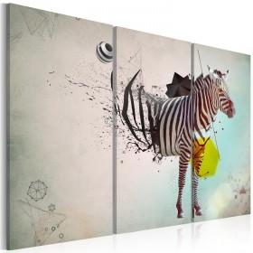 Foto schilderij - zebra - abstractie