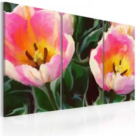 Foto schilderij - Blooming tulips