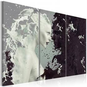 Foto schilderij - Black or white? - triptych
