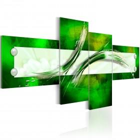 Foto schilderij - groen  abstract motief