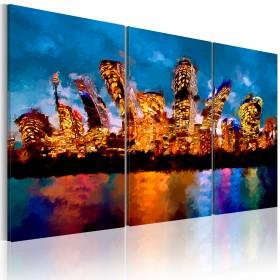 Foto schilderij - Mad city - triptych