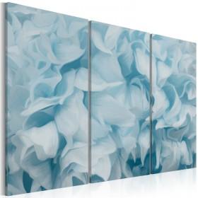 Foto schilderij - Azalea in blauw
