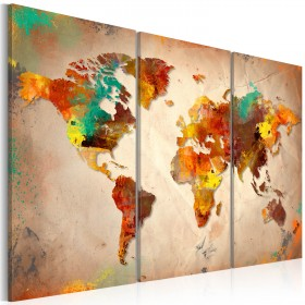 Foto schilderij - Painted World - triptych