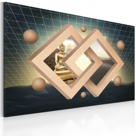 Foto schilderij - Boeddha (abstractie)
