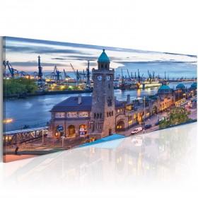 Foto schilderij - Hamburg - haven