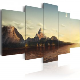 Foto schilderij - Zonsopgang in de bergen