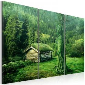 Foto schilderij - Bosecosysteem